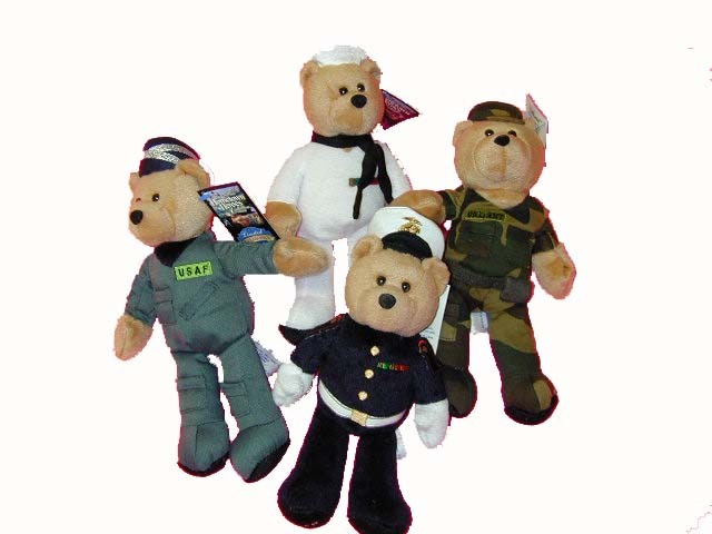 Military Bean Bag Bears-0