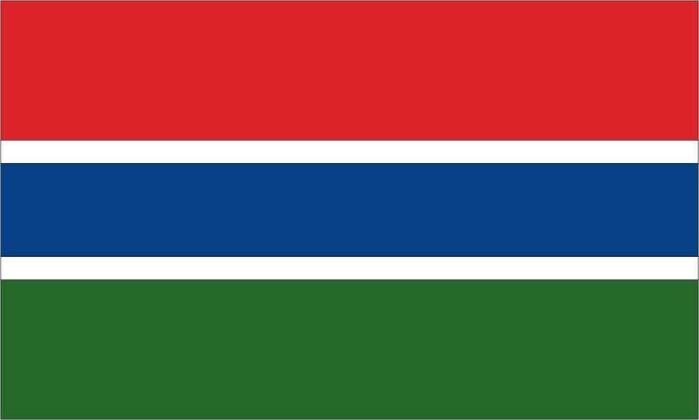 Gambia-3' x 5' Indoor Flag-0