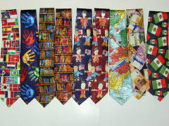 Flags Polyester Tie-1321