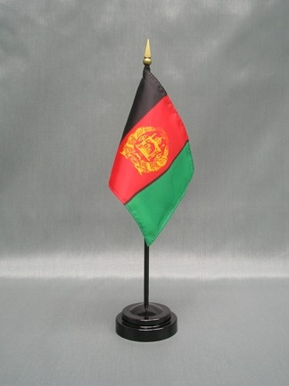 "Afghanistan-4"" x 6"" Desk Flag-0"