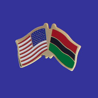 USA+Afro-American Friendship Pin-0