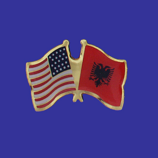 USA+Albania Friendship Pin-0