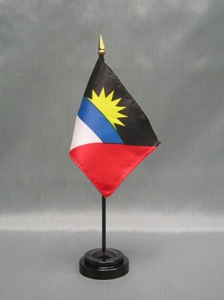 "Antigua & Barbuda -4"" x 6"" Desk Flag-0"