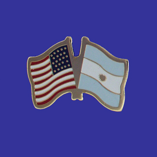 USA+Argentina Friendship Pin-0