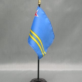 "Aruba-4"" x 6"" Desk Flag-0"