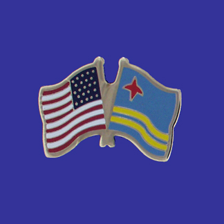 USA+Aruba Friendship Pin-0