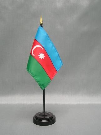 "Azerbaijan-4"" x 6"" Desk Flag-0"