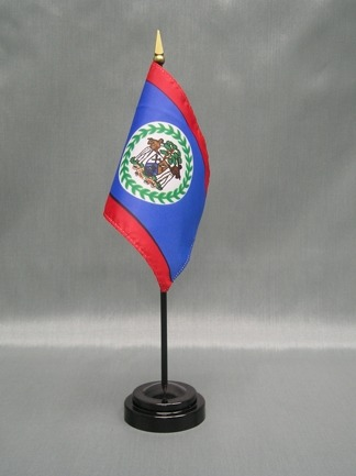 "Belize-4"" x 6"" Desk Flag-0"