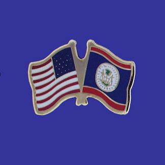 USA+Belize Friendship Pin-0