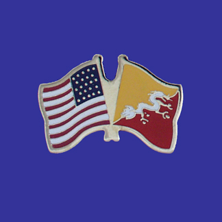 USA+Bhutan Friendship Pin-0