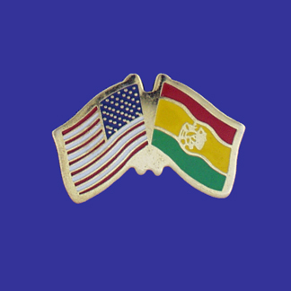 USA+Bolivia Friendship Pin-0