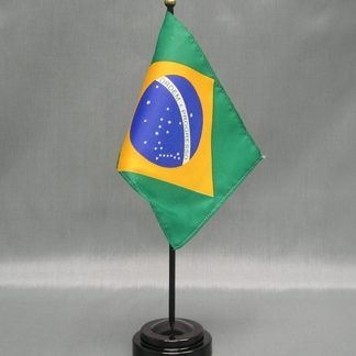 """Brazil -4"""" x 6"""" Desk Flag-0"""