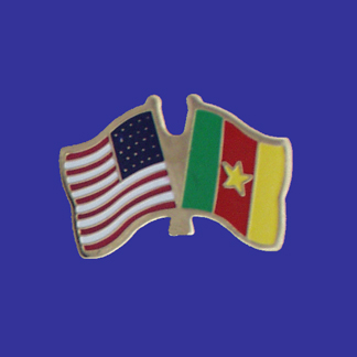 USA+Cameroon Friendship Pin-0