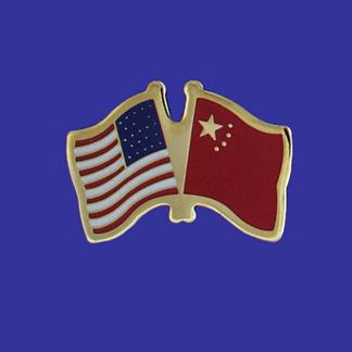 USA+China Friendship Pin-0