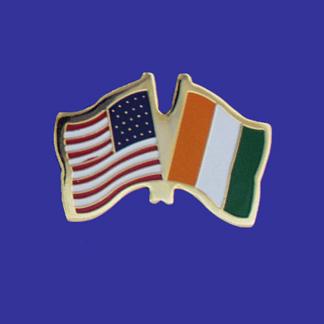 USA+Ivory Coast Friendship Pin-0