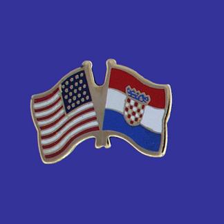 USA+Croatia Friendship Pin-0