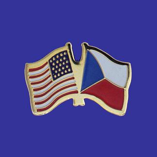 USA+Czech Republic Friendship Pin-0