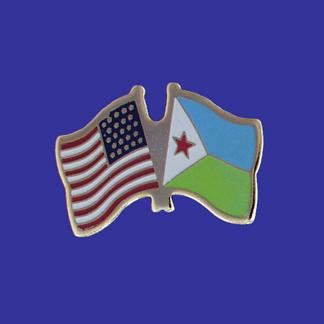 USA+Djibouti Friendship Pin-0