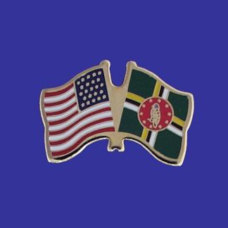 USA+Dominica Friendship Pin-0