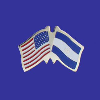 USA+El Salvador Friendship Pin-0