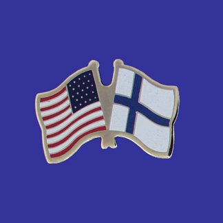 USA+Finland Friendship Pin-0