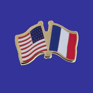 USA+France Friendship Pin-0