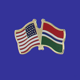 USA+Gambia Friendship Pin-0