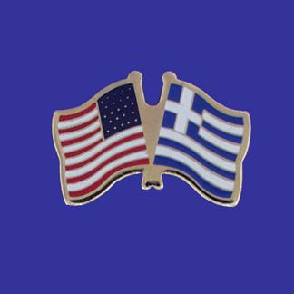 USA+Greece Friendship Pin-0