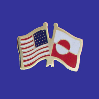 USA+Greenland Friendship Pin-0