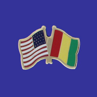 USA+Guinea Friendship Pin-0