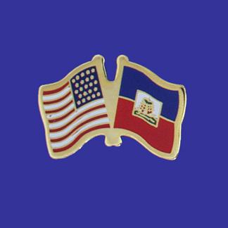 USA+Haiti Friendship Pin-0