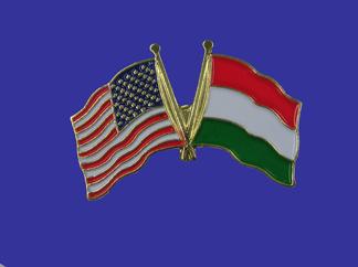 USA+Hungary Friendship Pin-0