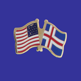 USA+Iceland Friendship Pin-0