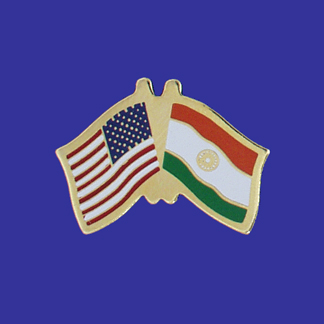 USA+India Friendship Pin-0