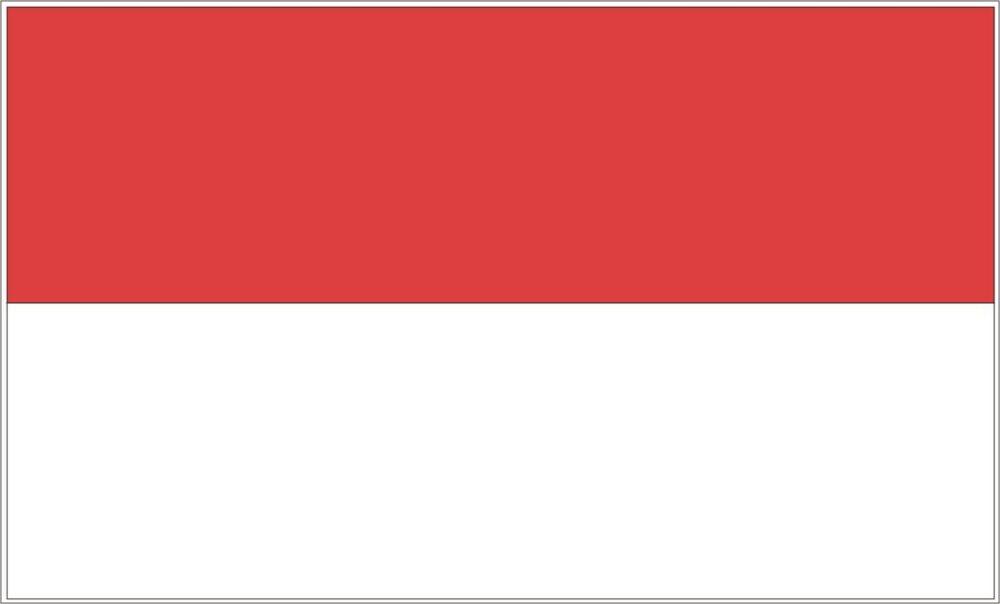 "Indonesia Flag-4"" x 6"" Desk Flag-0"