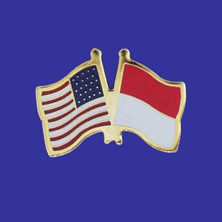 USA+Indonesia Friendship Pin-0