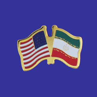 USA+Iran Friendship Pin-0