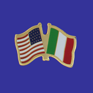 USA+Italy Friendship Pin-0