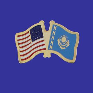 USA+Kazakhstan Friendship Pin-0