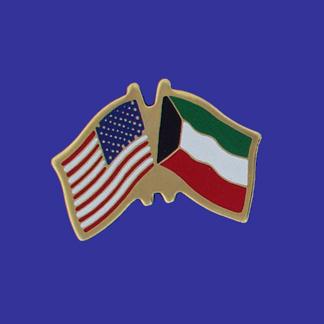 USA+Kuwait Friendship Pin-0