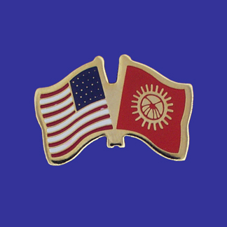 USA+Kyrgyszstan Friendship Pin-0