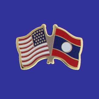 USA+Laos Friendship Pin-0