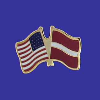 USA+Latvia Friendship Pin-0