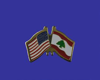 USA+Lebanon Friendship Pin-0