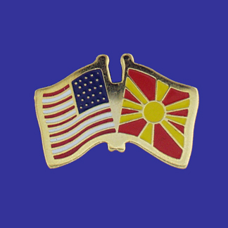 USA+Macedonia Friendship Pin-0