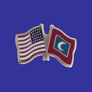 USA+Maldives Friendship Pin-0