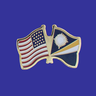 USA+Marshall Islands Friendship Pin-0