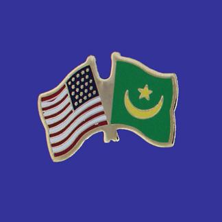 USA+Mauritania Friendship Pin-0