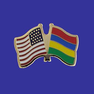 USA+Mauritius Friendship Pin-0