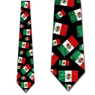 Mexico Flags Polyester Tie-0